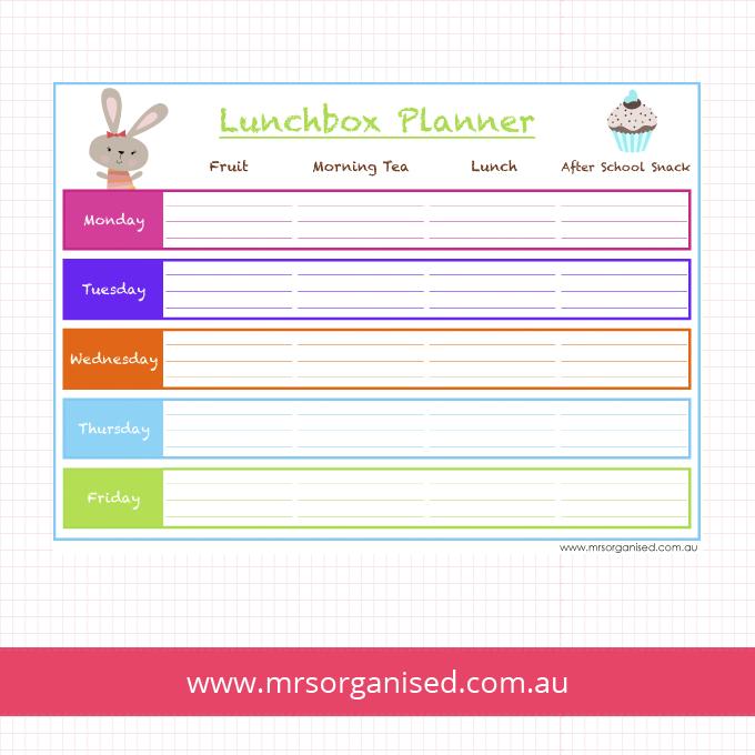 Lunchbox Planner