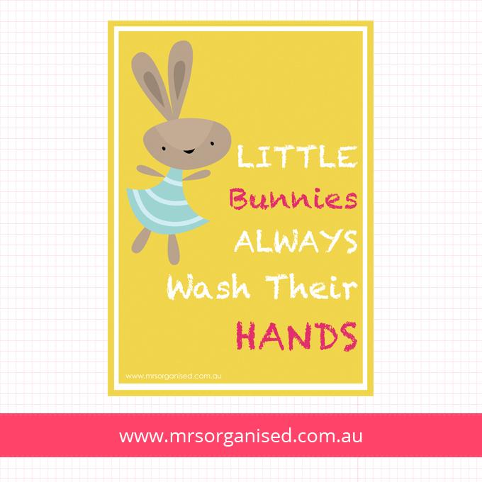 Little Bunnies Always Wash Their Hands