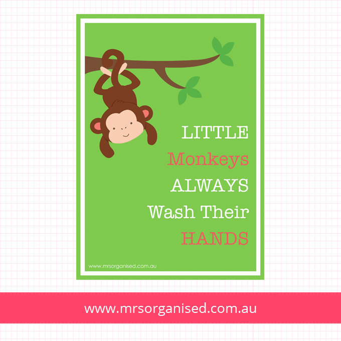 Little Monkeys Always Wash Their Hands Wall Art