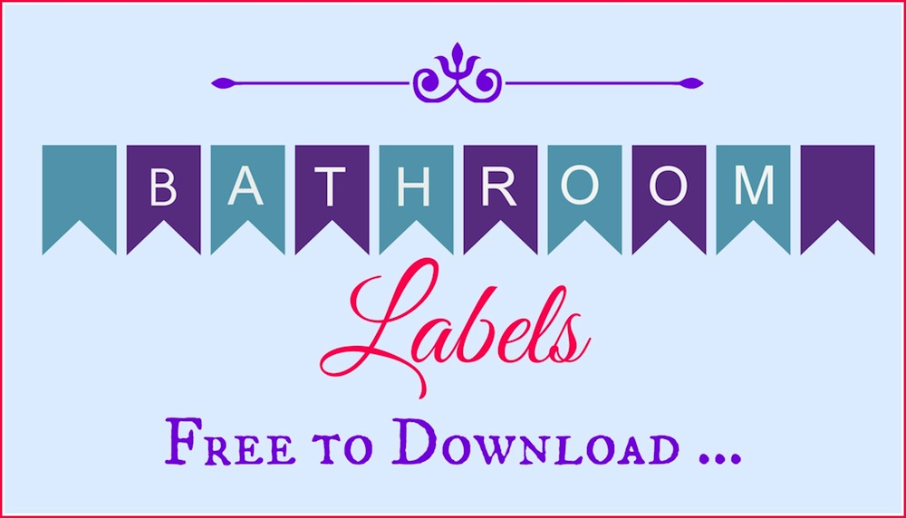 Bathroom Labels 001