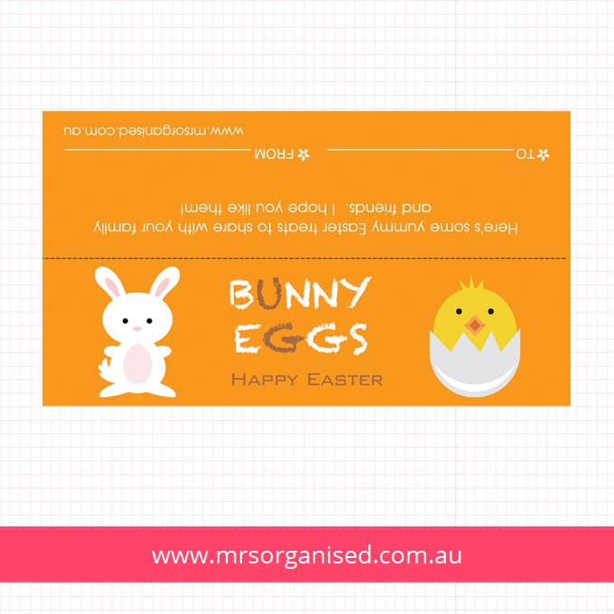 Bunny Eggs Bag Topper
