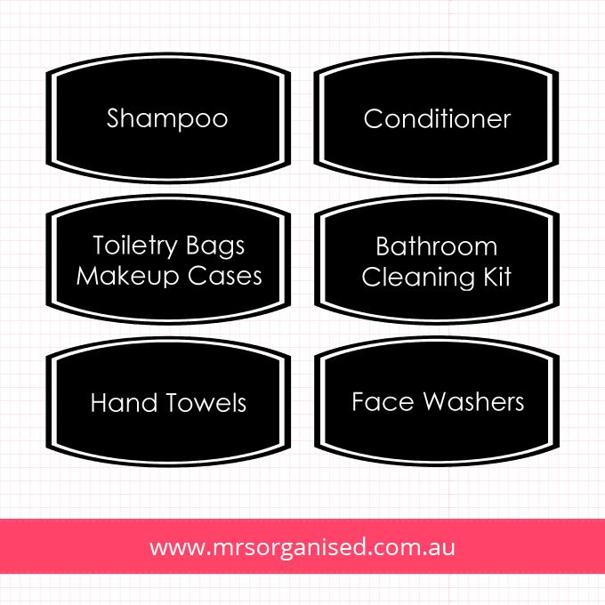 Bathroom Labels - Black