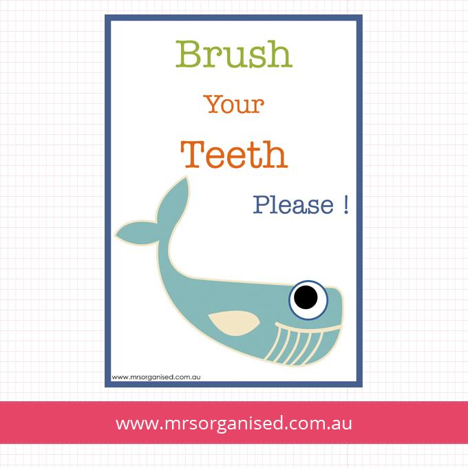 Brush Your Teeth Please Wall Art