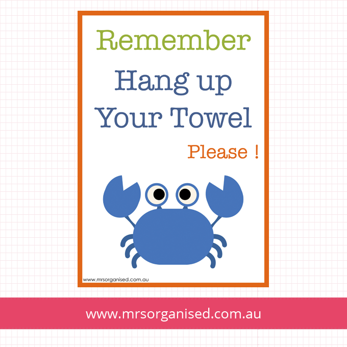 Hang Up Your Towel Please Wall Art