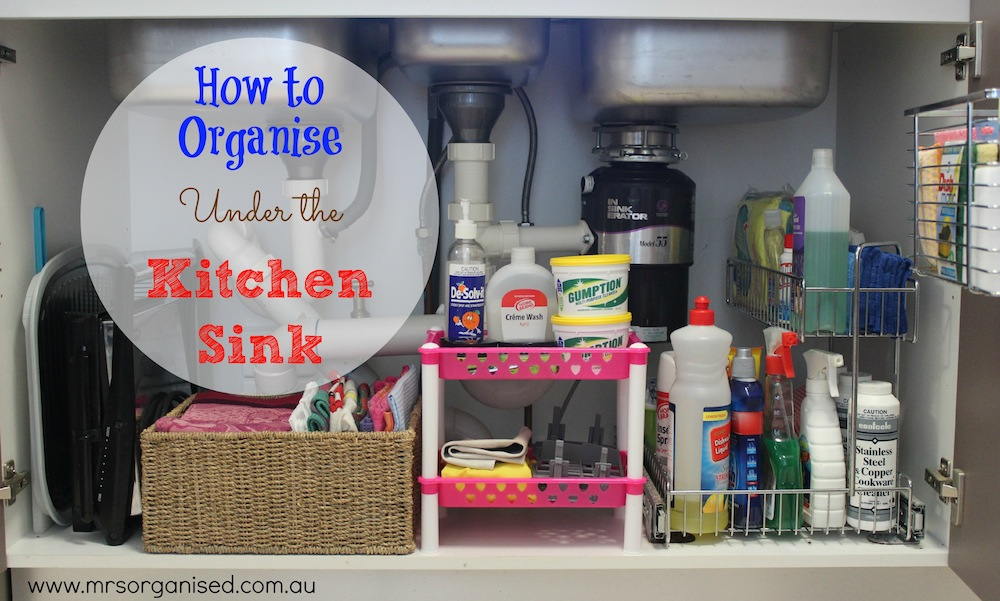 How to Organise Under the Kitchen Sink 001