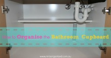 How to Organise the Bathroom Cupboard 004