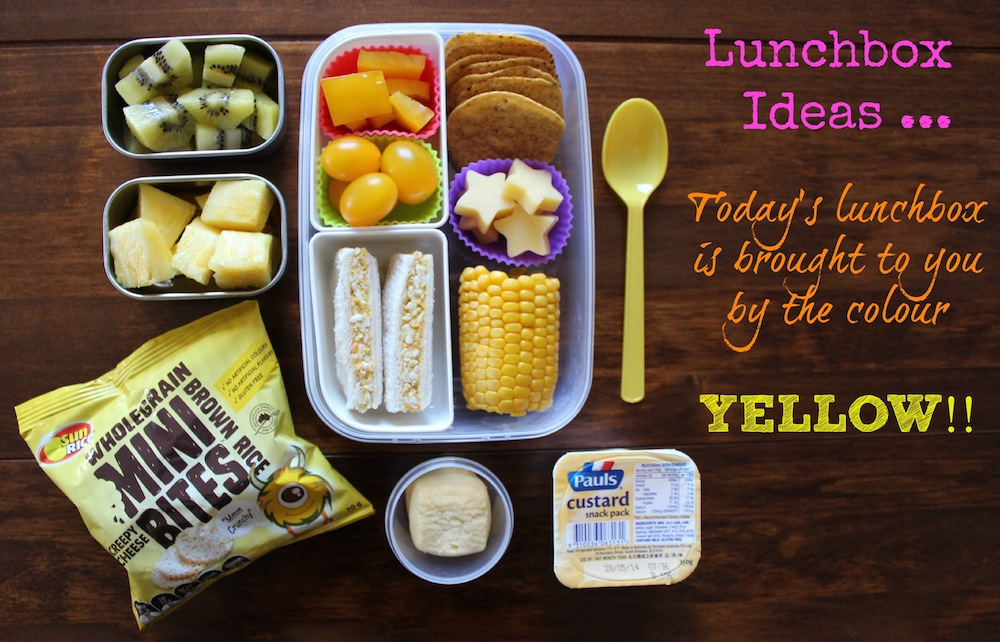 Lunchbox Ideas … Today's Lunchbox is brought to you by the colour YELLOW! 001
