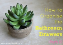 How to Organise the Bathroom Drawers (Part 2) 001