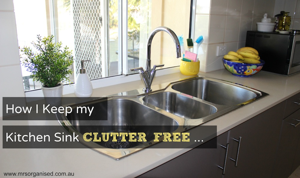 How I Keep my Kitchen Sink Clutter Free 001