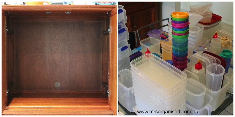 How I Organise my Plastics:Tupperware Cupboard in 6 Easy Steps 002