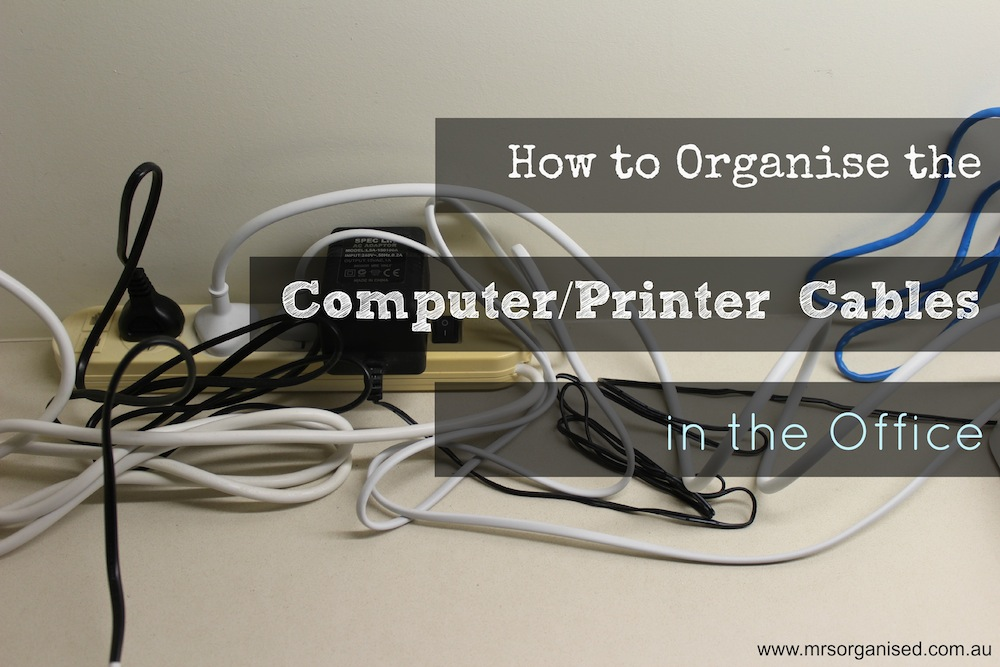 How to Organise the Computer Printer Cables in the Office 001
