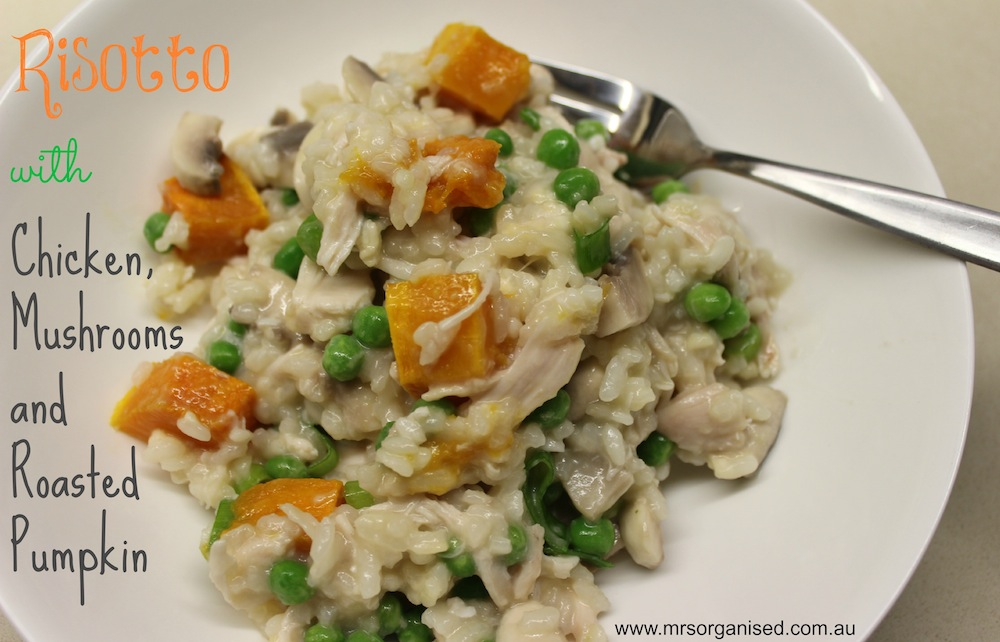 Risotto With Chicken Mushrooms And Roasted Pumpkin