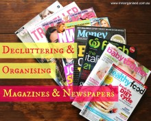 Decluttering & Organising Magazines & Newspapers 001