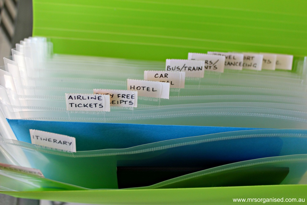 How to Organise Travel Documents 003