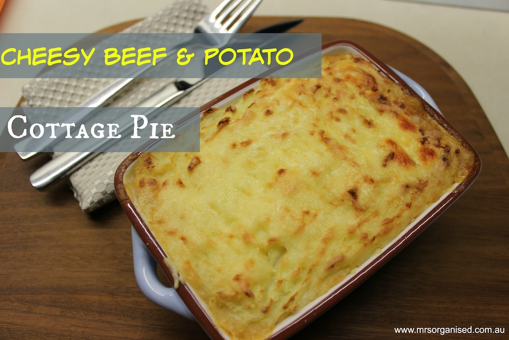 Cheesy Beef & Potato Cottage Pie 001