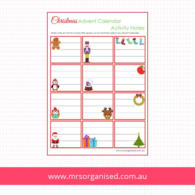 Christmas Advent Calendar Notes