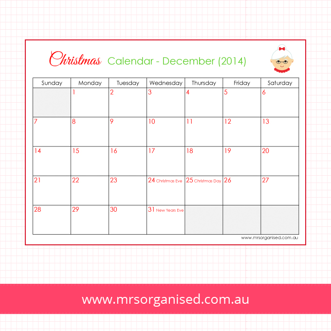 Christmas Calendar - December