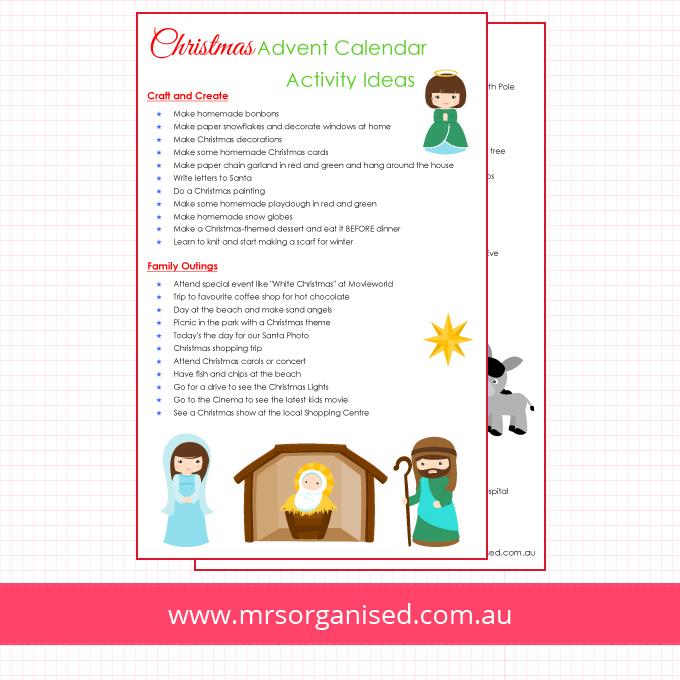 Christmas Advent Calendar Activity Ideas
