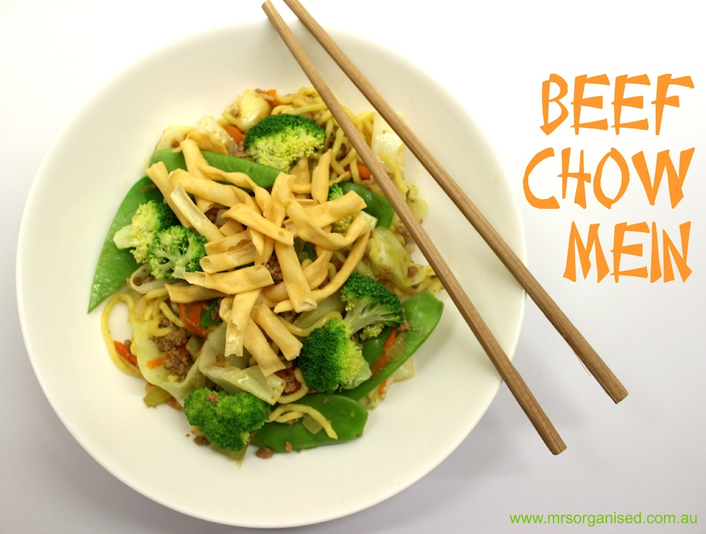 Beef Chow Mein … One Pot, One Bowl 001