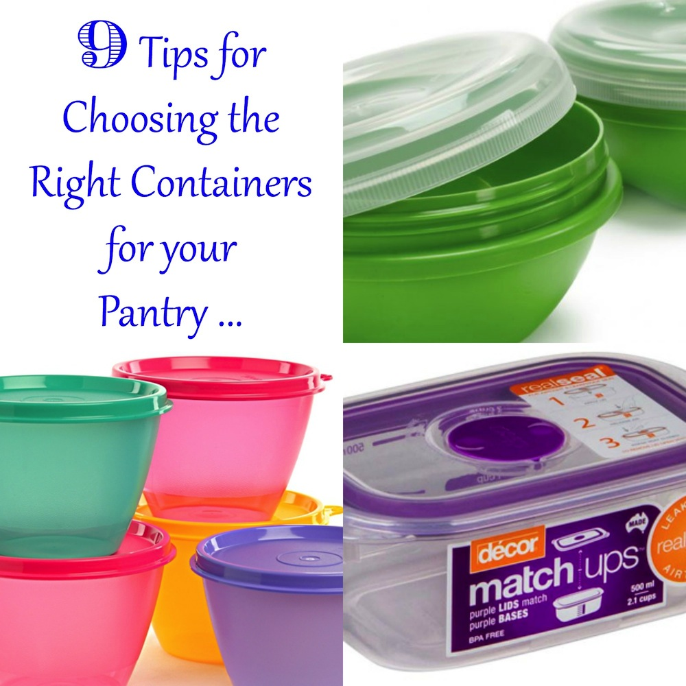 9 Tips for Choosing the Right Containers for your Pantry 001