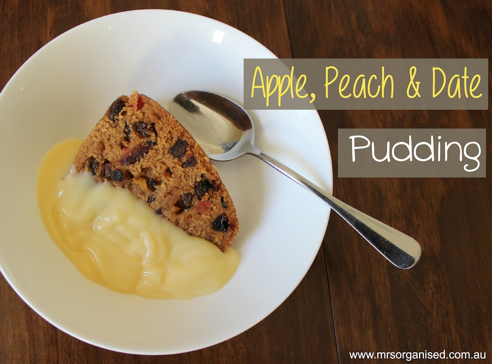 Apple, Peach and Date Pudding 001