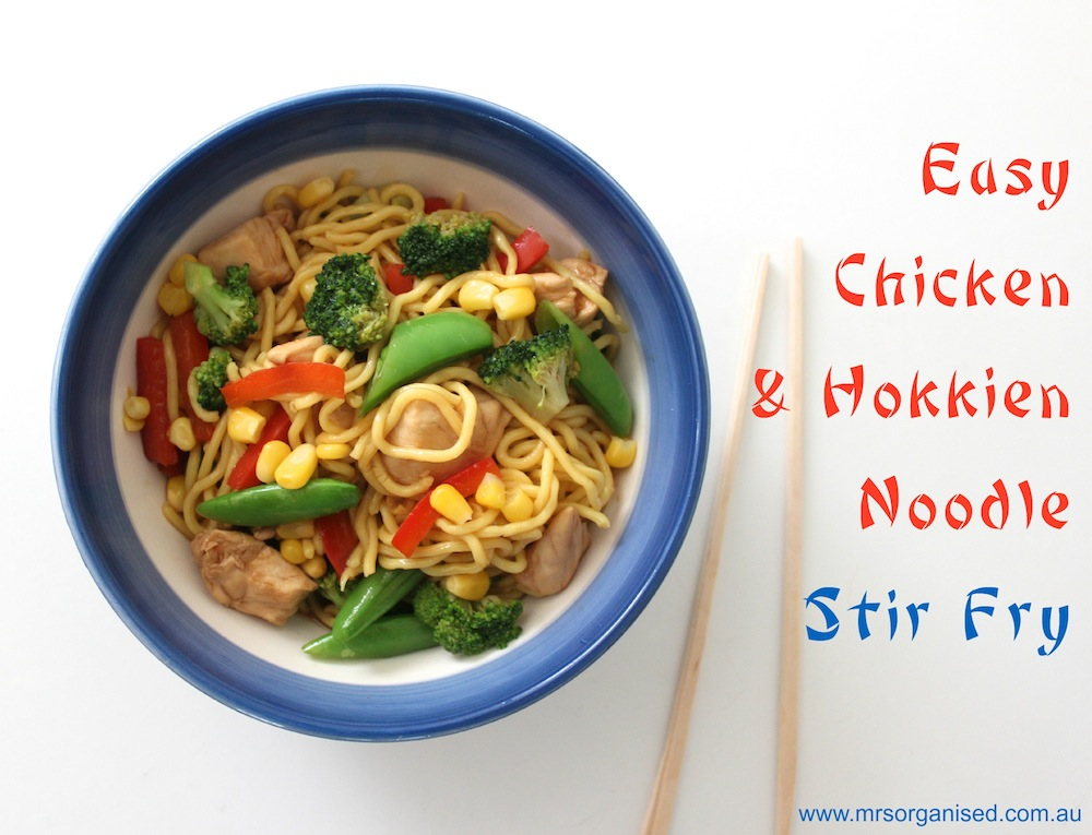 Easy Chicken and Hokkien Noodle Stir Fry 001