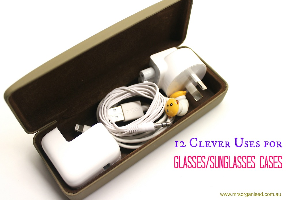 12 Clever Uses for Glasses:Sunglasses Cases 001