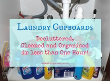 Laundry Cupboards … Decluttered, Cleaned and Organised in less than an Hour! 001