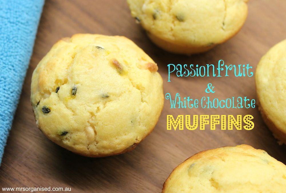 Passionfruit and White Chocolate Muffins 001