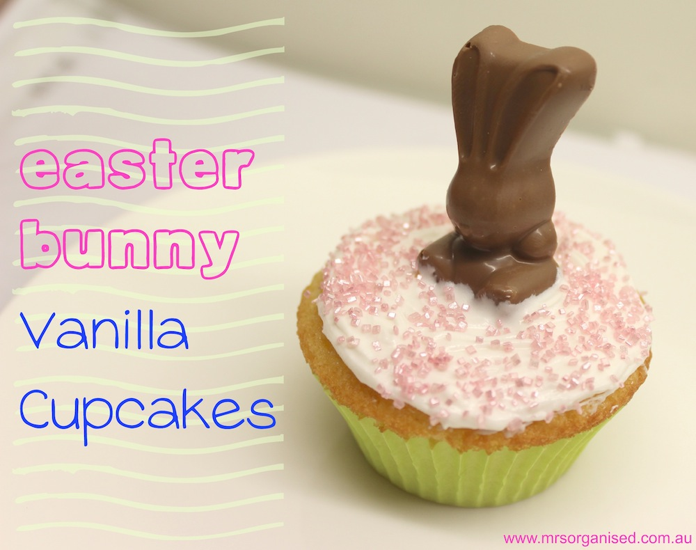 Vanilla Cupcakes … Easter Bunny Vanilla Cupcakes
