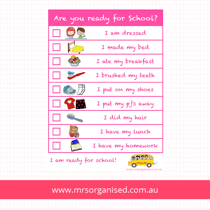 Are you ready for School? (Pink)