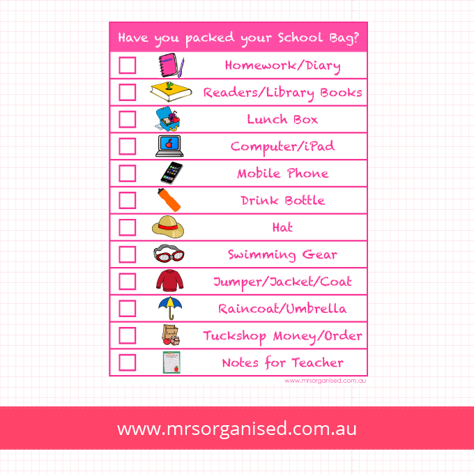 Have you packed your School Bag? (Pink)