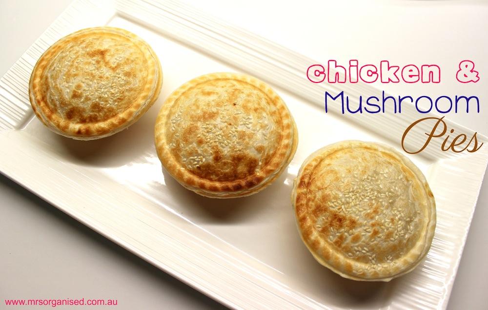 Chicken & Mushroom Pies 001