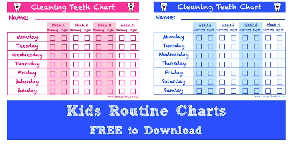 Cleaning Teeth Chart Free To Download