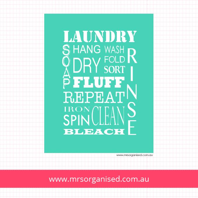 Laundry Wall Art (Aqua)