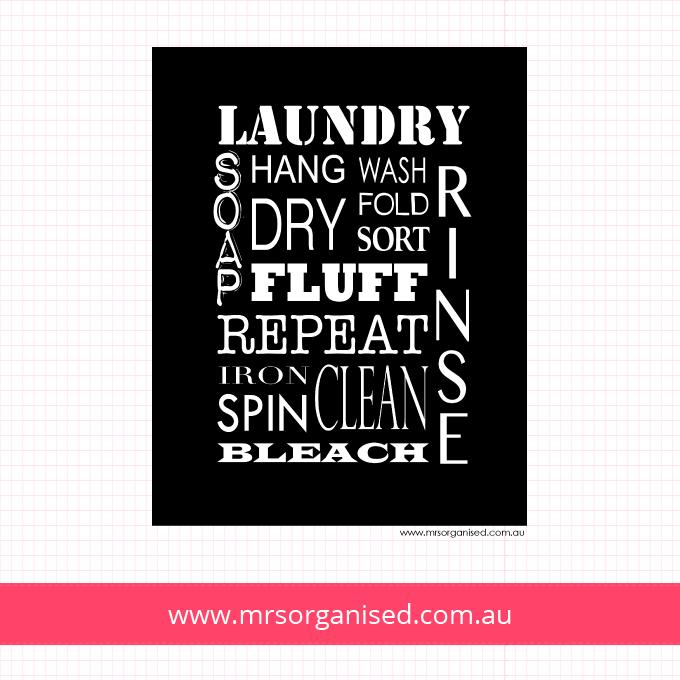 Laundry Wall Art (Black)