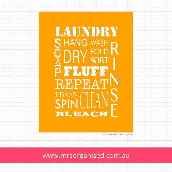 Laundry Wall Art (Orange)