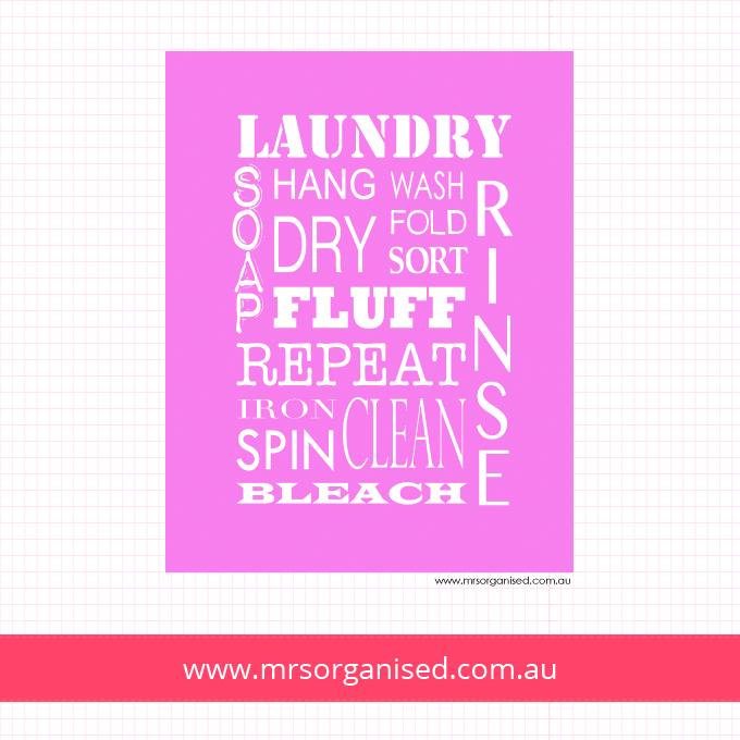 Laundry Wall Art (Pink)