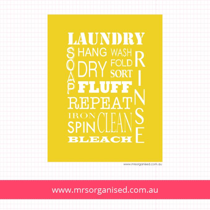 Laundry Wall Art (Yellow)