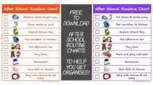 After School Routine Charts 001