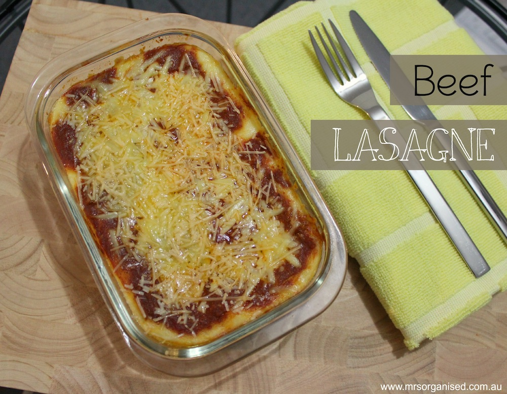 Beef Lasagne … A Simple, Homemade Recipe 001
