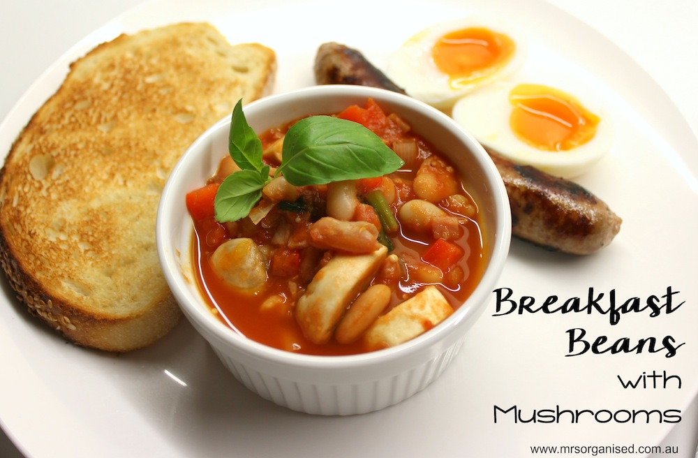 Breakfast Beans with Mushrooms 001