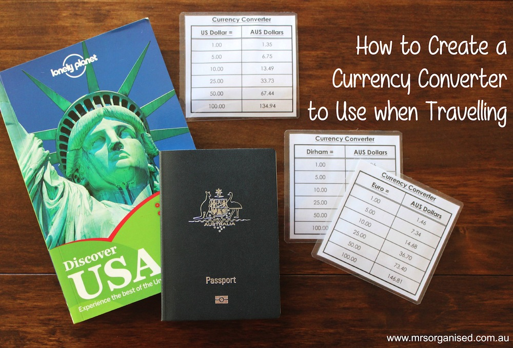 How to Create a Currency Converter to use when Travelling 001