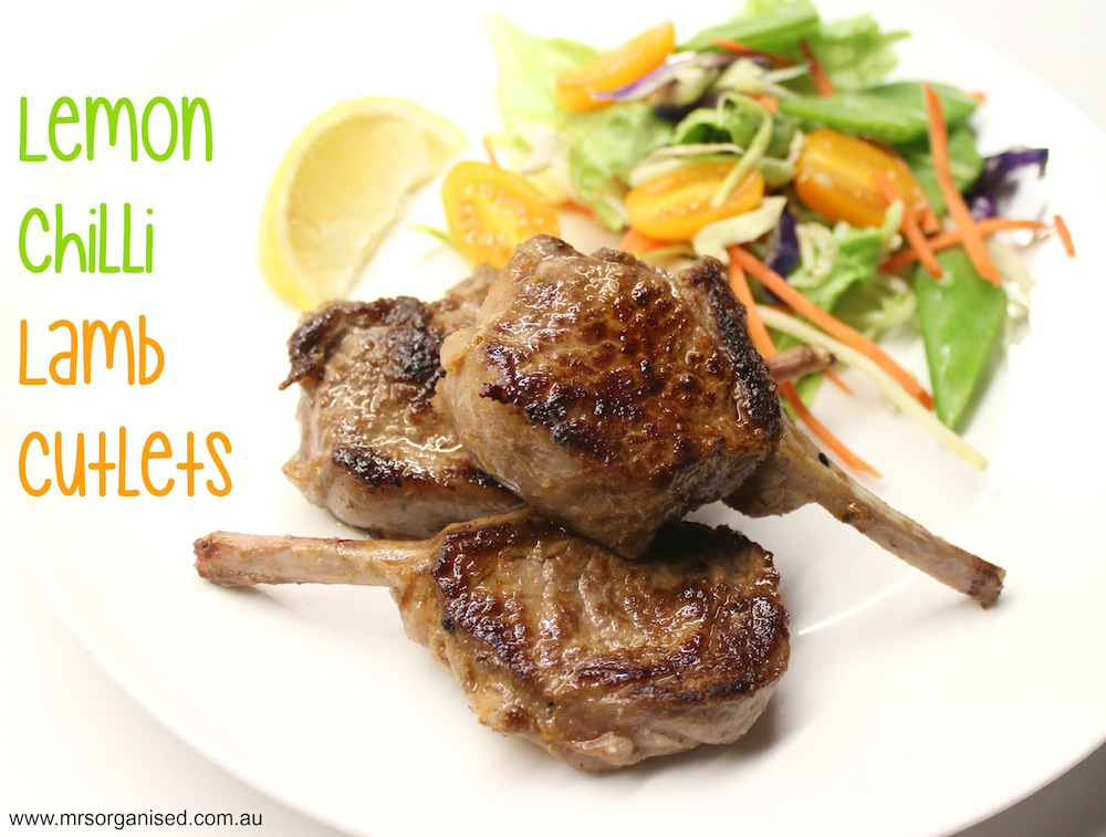 Lemon Chilli Lamb Cutlets