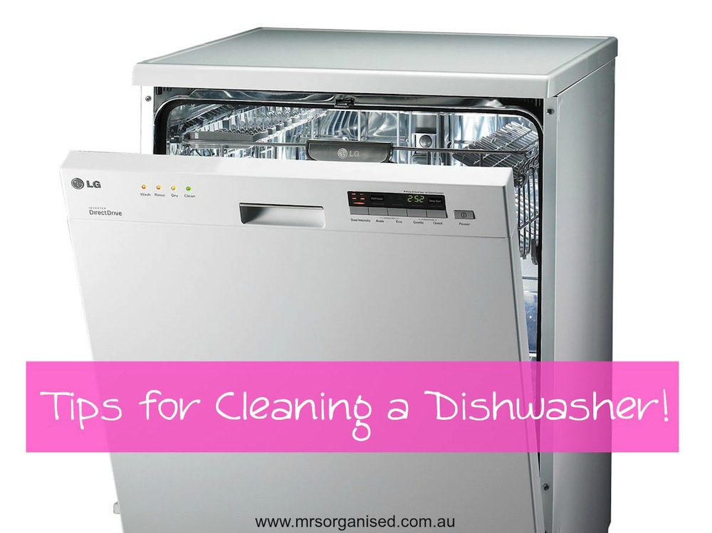 Tips for Cleaning a Dishwasher 001