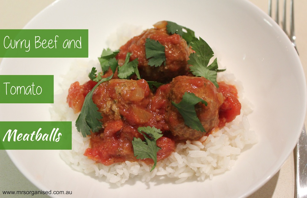 Curry Beef and Tomato Meatballs