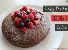 Easy Peasy Chocolate Cake … The only Recipe you'll Ever Need 001