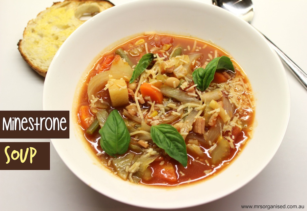 Minestrone Soup … Healthy, Hearty and Delicious