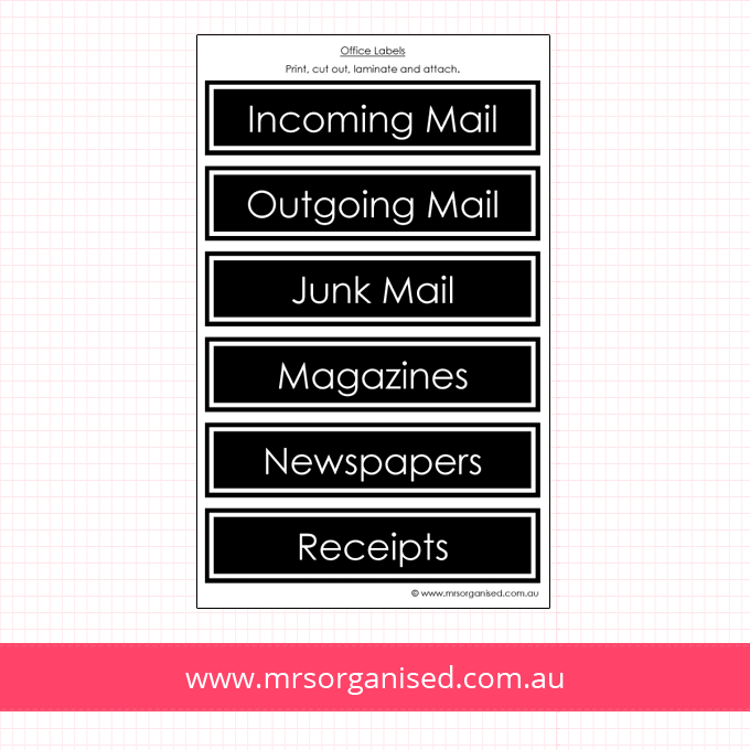 Sorting Labels for Mail, Magazines and Newspapers (Black)