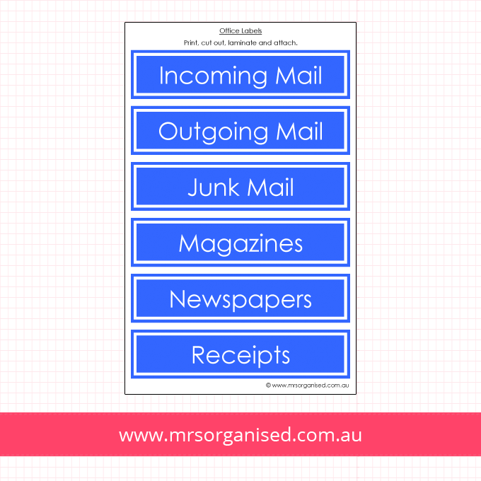 Sorting Labels for Mail, Magazines and Newspapers (Blue)